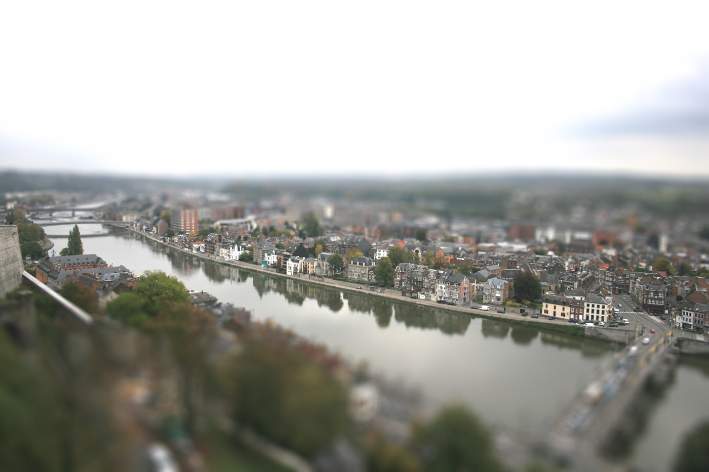 meuse tilt shift by Arnaud Charlier